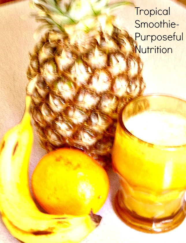 Beat The Winter Blues Tropical Smoothie Dairy Free Sugar Free Purposeful Nutrition Healing With Food