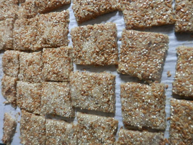 Sourdough Quinoa Flax Crackers - Purposeful Nutrition