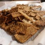 Sourdough Quinoa Flax Crackers