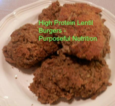 Lentil Burgers - Purposeful Nutrition