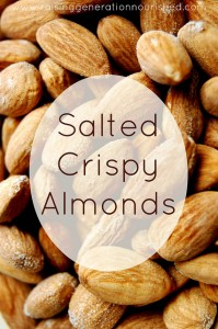 Crispy almonds