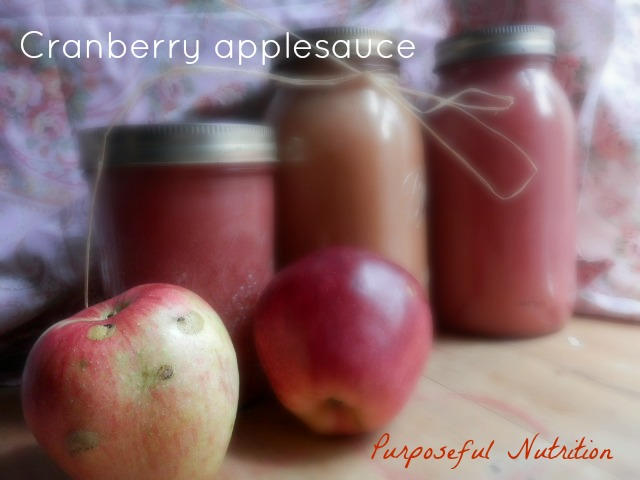 Cranberry applesauce | Purposeful Nutrition: Healing With Food.