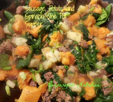 Sausage, Potato, and Spinach One Pot Supper