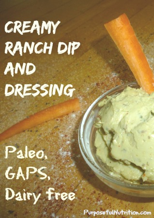 Ranch dip Purposeful Nutrition