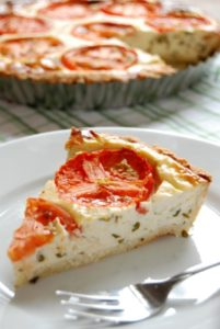 basil cheese pie