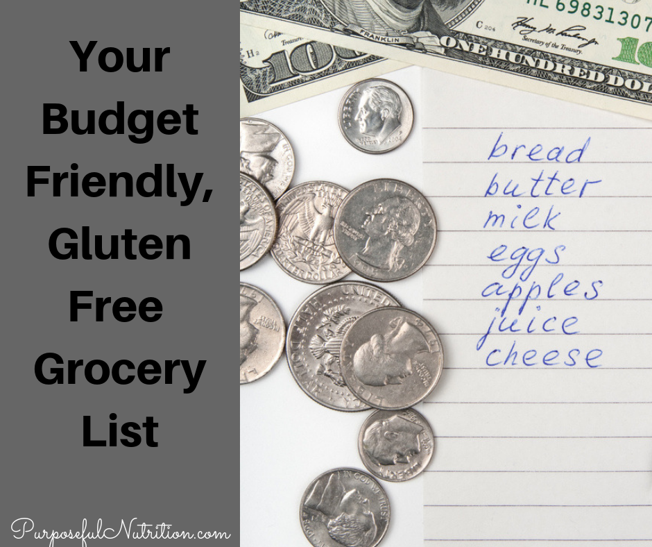 Your Budget-Friendly, Gluten-Free Grocery List
