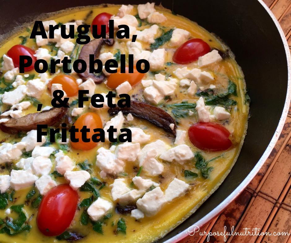 Arugula, Portobello, & Feta Frittata